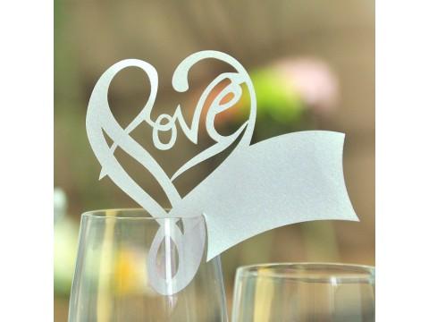 """Банкетная карточка на бокал """"Love"""""""