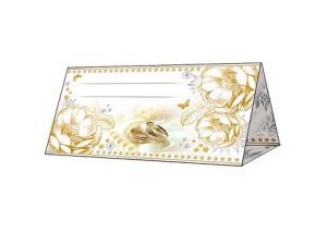 """Банкетная карточка """"Белые цветы"""""""