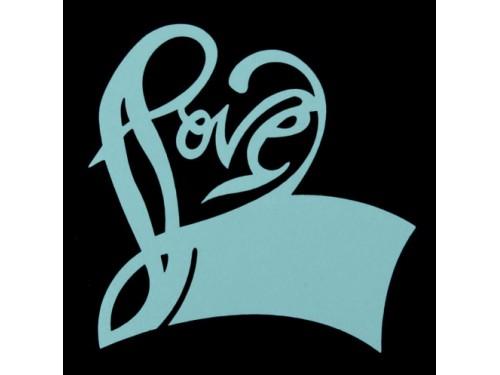 """Банкетная карточка на бокал """"Love"""", голубая"""