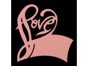 "Банкетная карточка на бокал ""Love"", розовая"