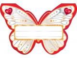 "Банкетная карточка ""Красная бабочка"""