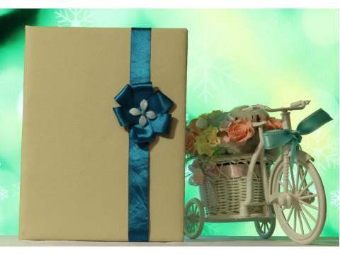 """Обложка для свидетельства о браке """"Лазурь"""", ручная работа"""