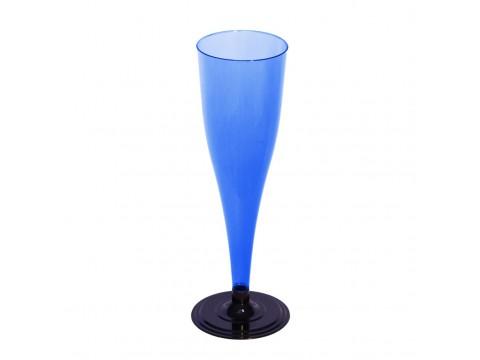 Фужер для шампанского одноразовый, синий