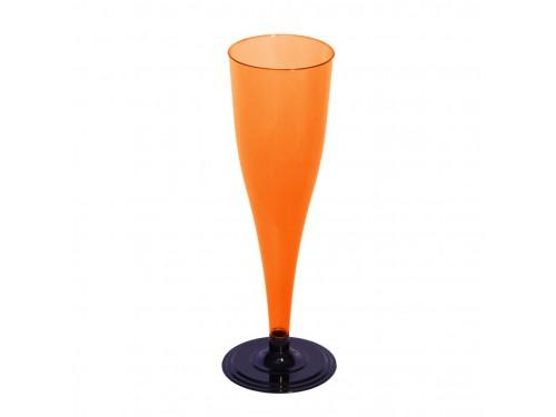 Фужер для шампанского одноразовый, оранжевый