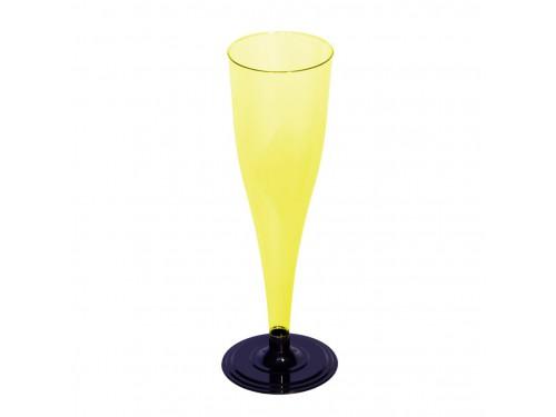 Фужер для шампанского одноразовый, желтый