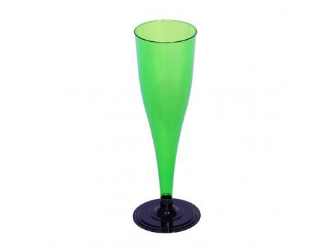 Фужер для шампанского одноразовый, зеленый
