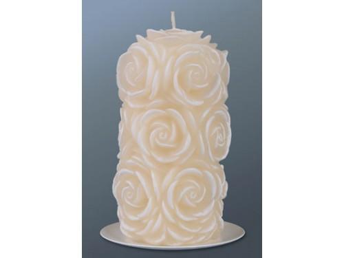 Свеча в розах 6,5х12,5 см