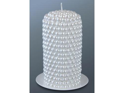 Свеча жемчужная пеньковая 6,5х13 см