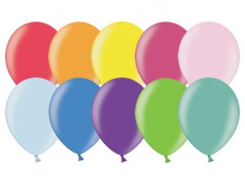 Набор шаров металлик разноцветные, 26см, 200 шт